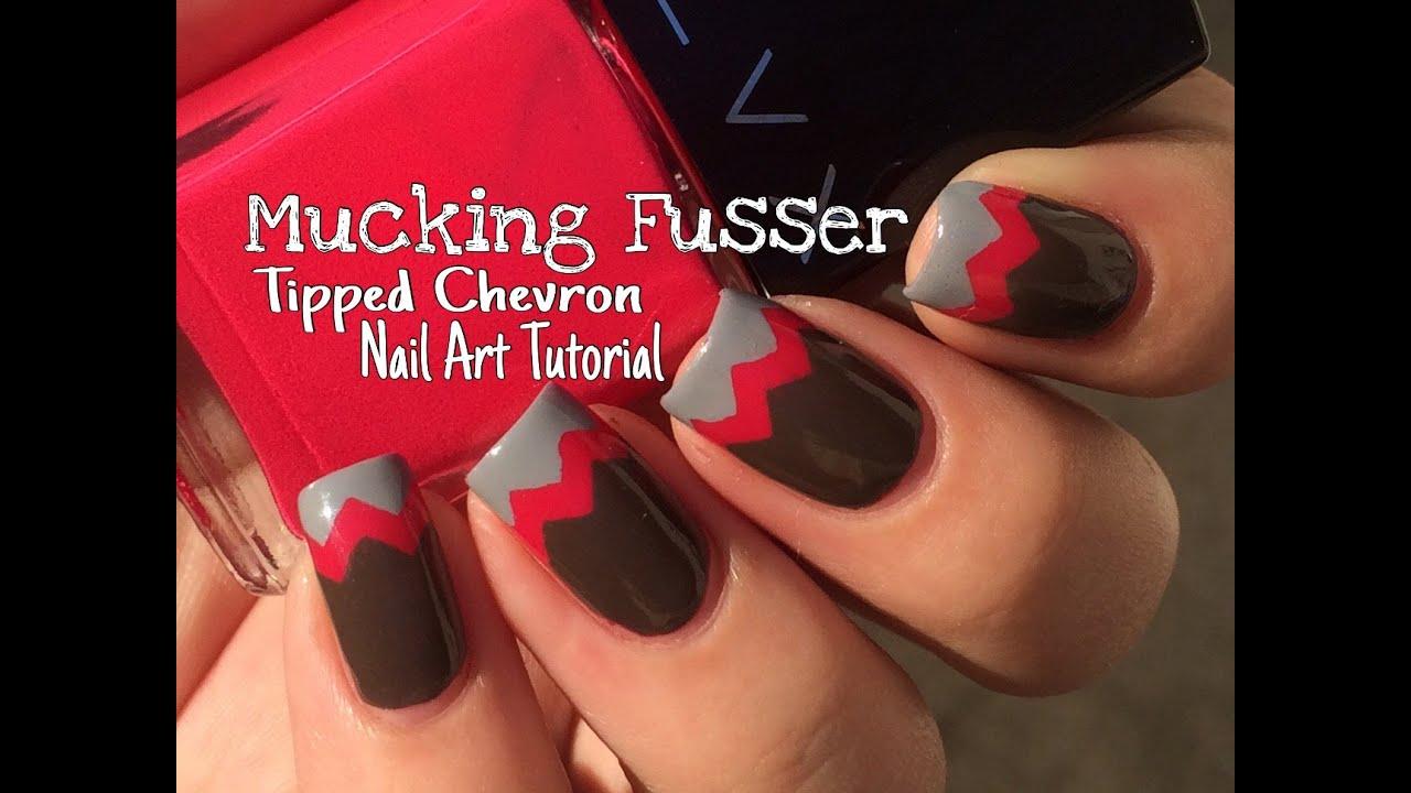 tipped chevron nail art tutorial