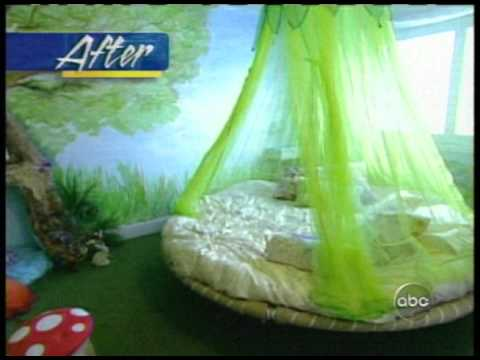 floating bed on abc tv show extreme makeover home edition - youtube