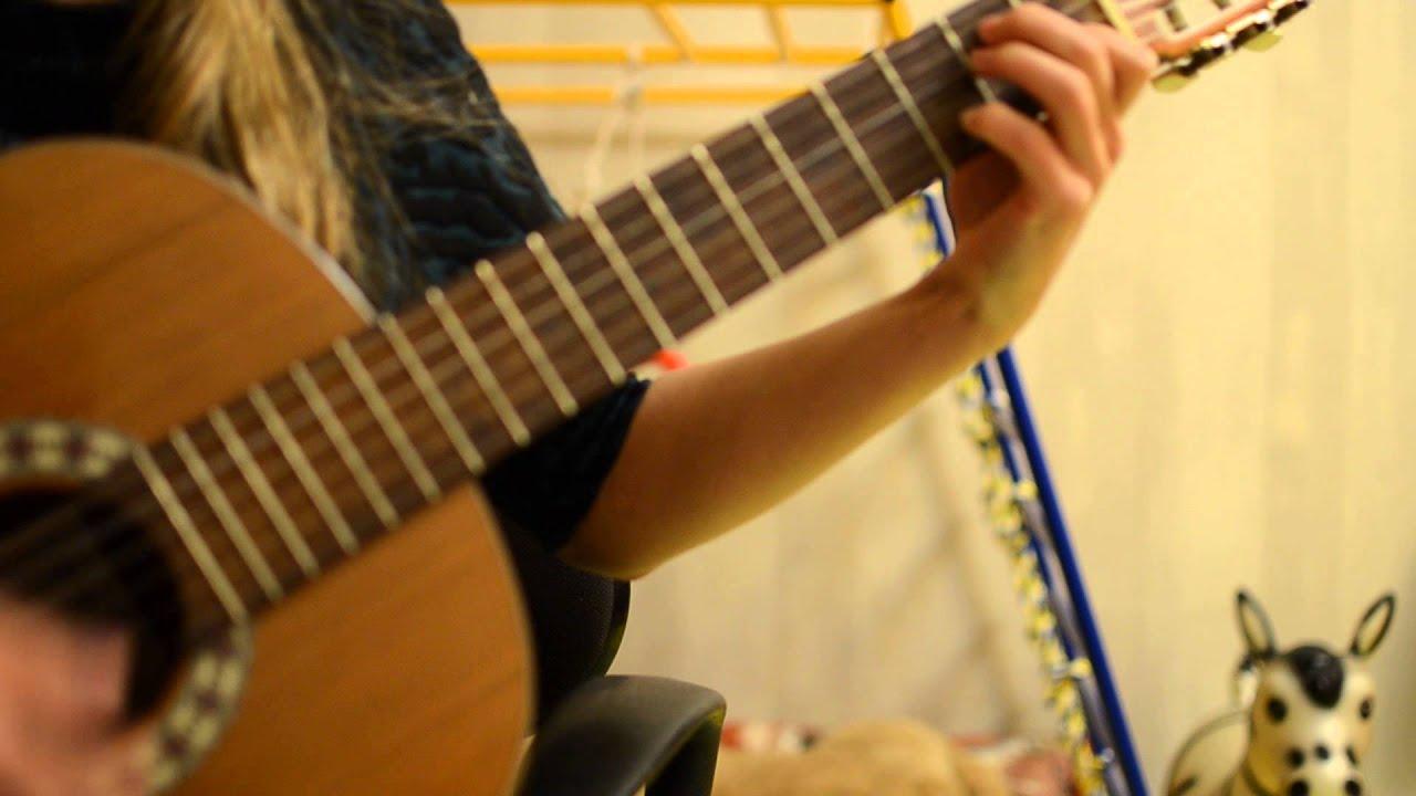 Зачем ты это сделала надела платье белое на гитаре