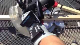 Using A Power Mitre Saw To Cut 2x2 Lumber...with The Powerglove. Ep.7