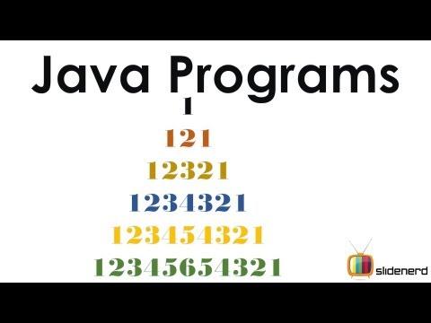 65 Java Patterns Numeric 3 Code |