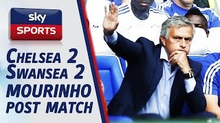 mourinho unhappy with eva carneiro going on the pitch full post match chelsea 2 2 swansea