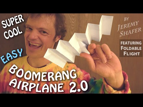 The SUPER COOL Boomerang Airplane 2.0 -- Now It Comes Back Easily! Collab w/ Foldable Flight.