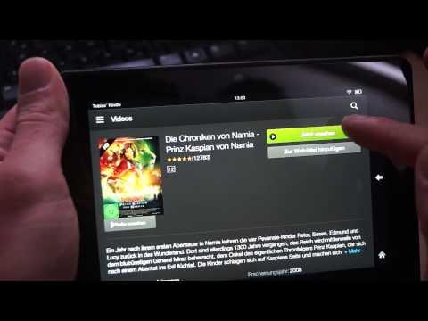 Kindle Fire HDX 7 kurzer Test - Deutsch