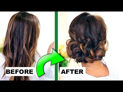 ★-3-minute-elegant-curly-bun-👍🏽-|-easy-updo-hairstyles-for-everyday-&-prom-|-peinados