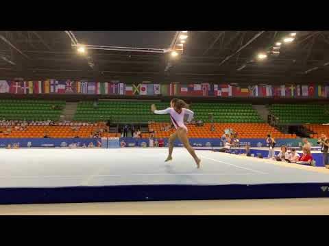 Sydney Barros  – Floor Exercise – 2019 Jr. World Championships Podium Training