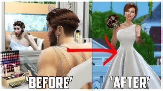 Guy transform into Wedding Girl👦👉👩! Transformation Story | Sims 4