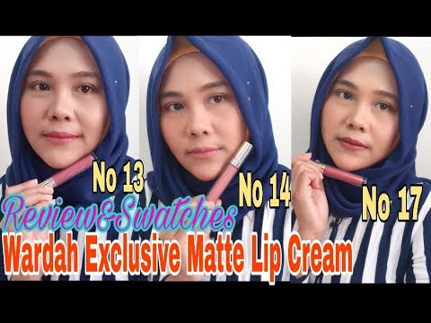 review-wardah-exclusive-matte-lip-cream-(no-13,14&17),-shade-baru|-oca