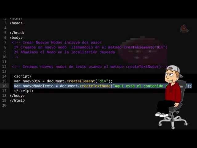 41.- Curso de JavaScript para principiantes. Crear nuevos nodos en el DOM.