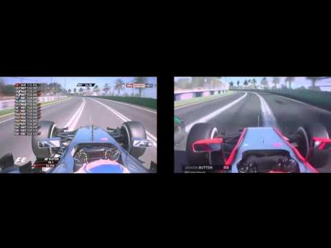 F1 2015 VS F1 2014 Jenson Button Onboard Melbourne Lap Comparison