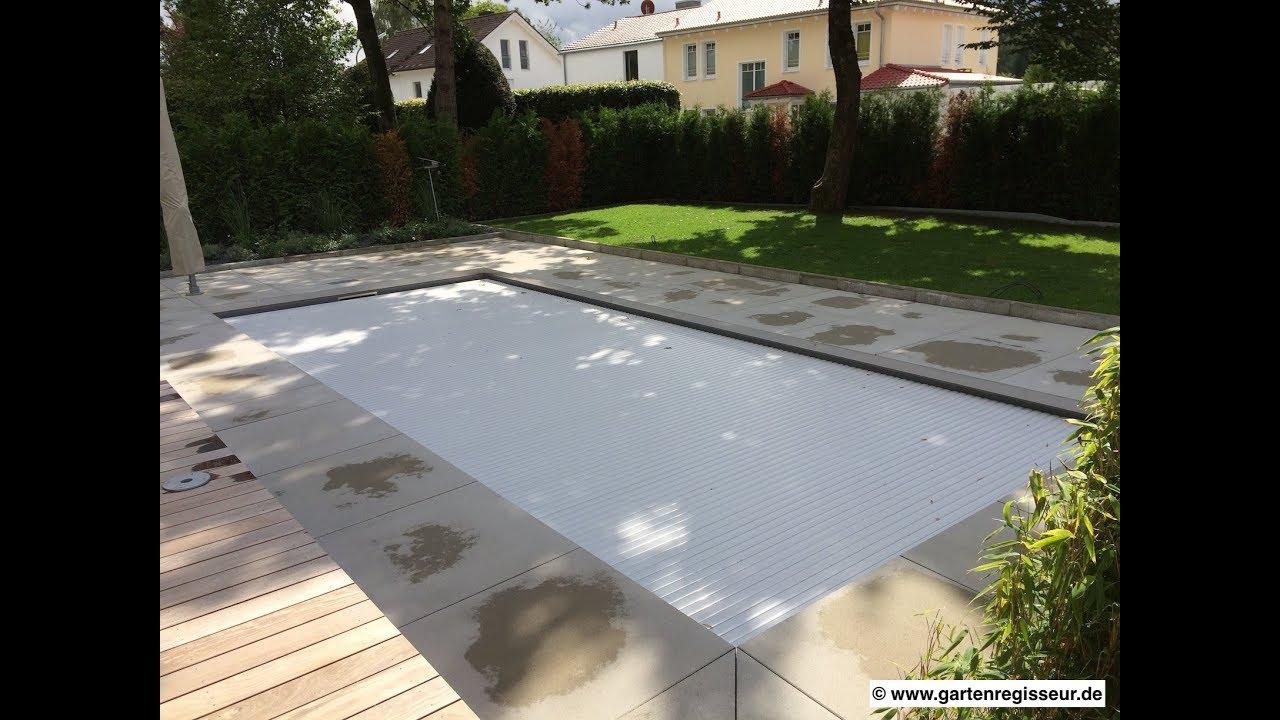 Gartenprojekt Poolumrandung mit 20x20m Platten