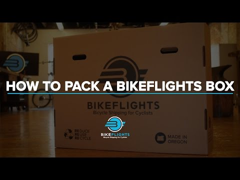 How to pack and ship a mountain bike in a BikeFlights.com bike box