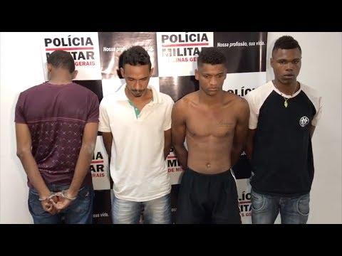 NOVA SERRANA: Quatros detidos com arma e moto roubada