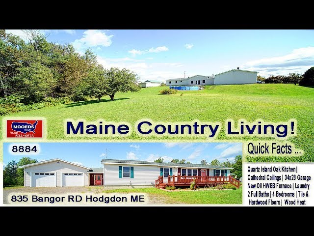 Homes In Maine For Sale With 2 Baths, 4 Bedrooms | 835 Bangor RD Hodgdon MOOERS REALTY #8884