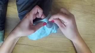 Заплатки на болоневых штанах из подручных материалов.