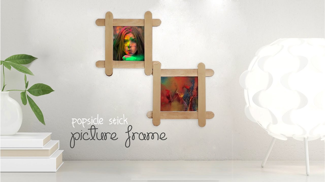 DIY: Popsicle Picture Frame - YouTube