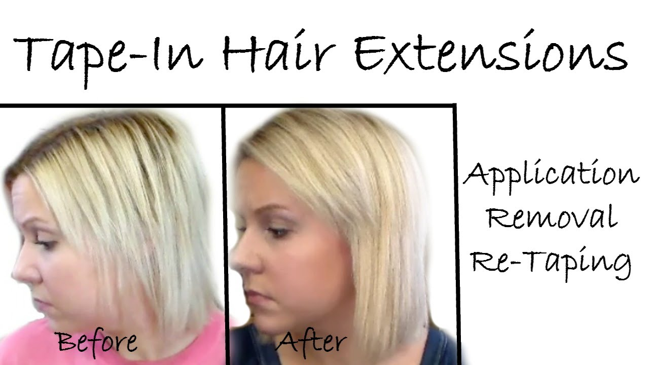 Tape In Hair Extensionsapplicationremovalre Taping Youtube