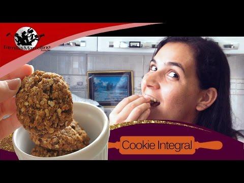 Cookies integral de aveia sem óleo, sem manteiga, 100% saudável