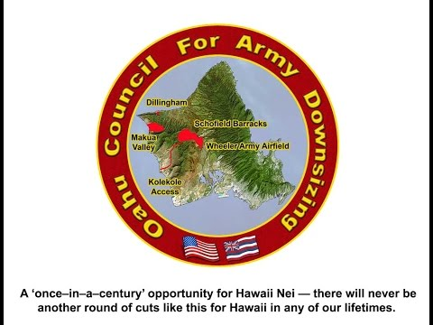 Is Army Downsizing Good For Hawaii? 11/20/14