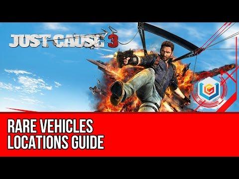 Just Cause 3 - Rare Vehicles Locations (Verdelon 3, Squalo X7, Autostraad Reisender 7, News Chopper)