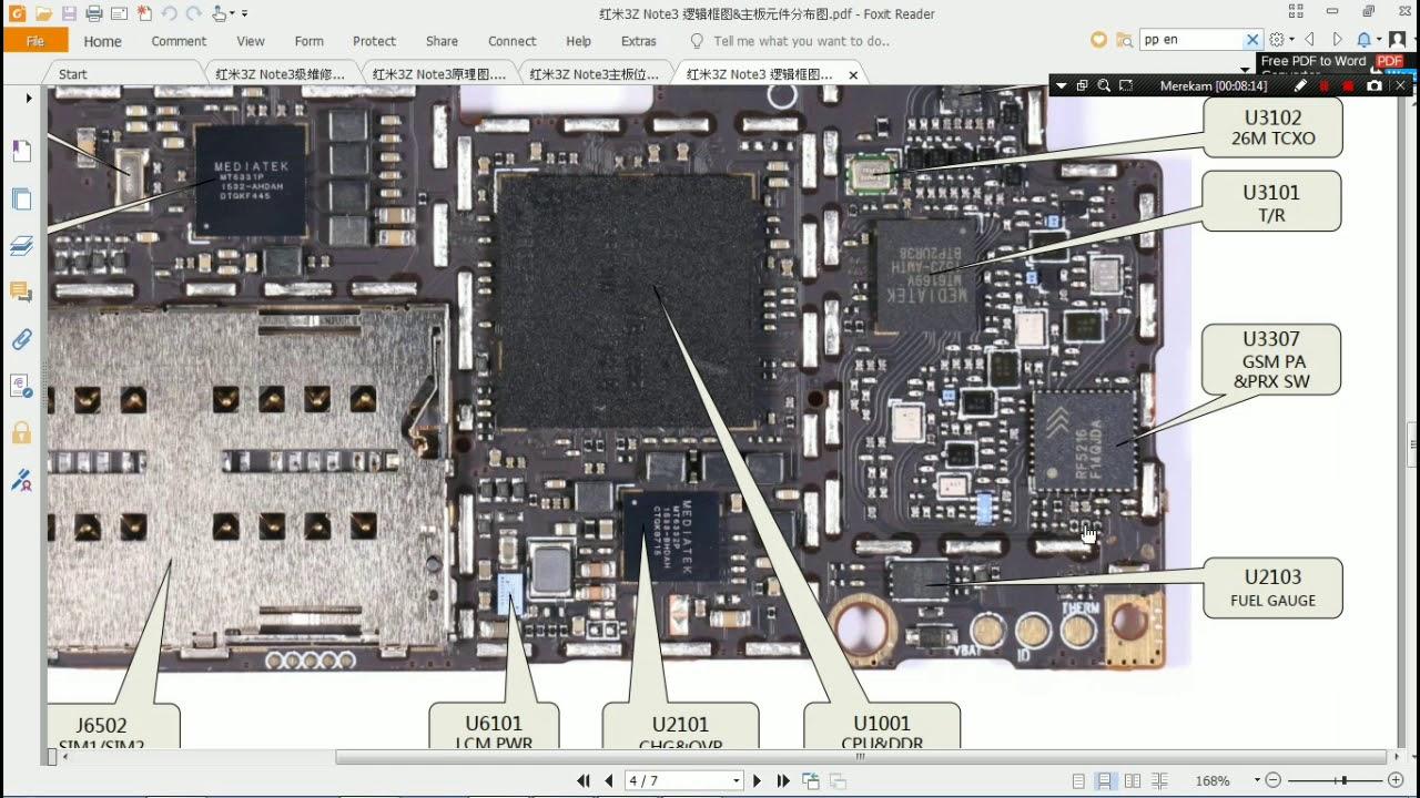 Jenis Jenis Komponen Di Mesin Hp Xiaomi Youtube