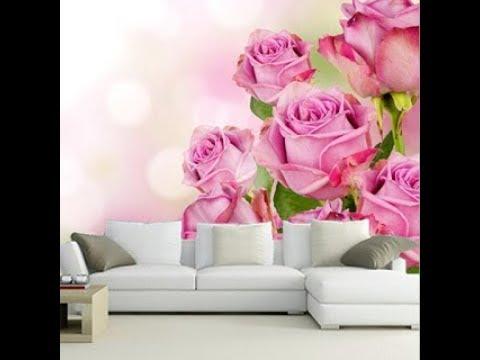 desain wallpaper ruang tamu warna pink masa kini - youtube