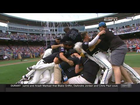 Coastal Carolina wins College World Series - Final out and postgame celebration