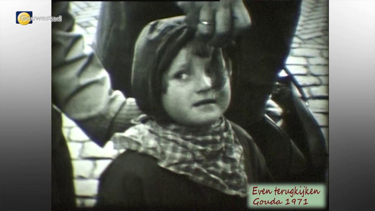 Straatbeeld Gouda 1971