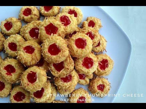 Resep Dan Cara Membuat Strawberry Thumbprint Cheese Cookies Youtube