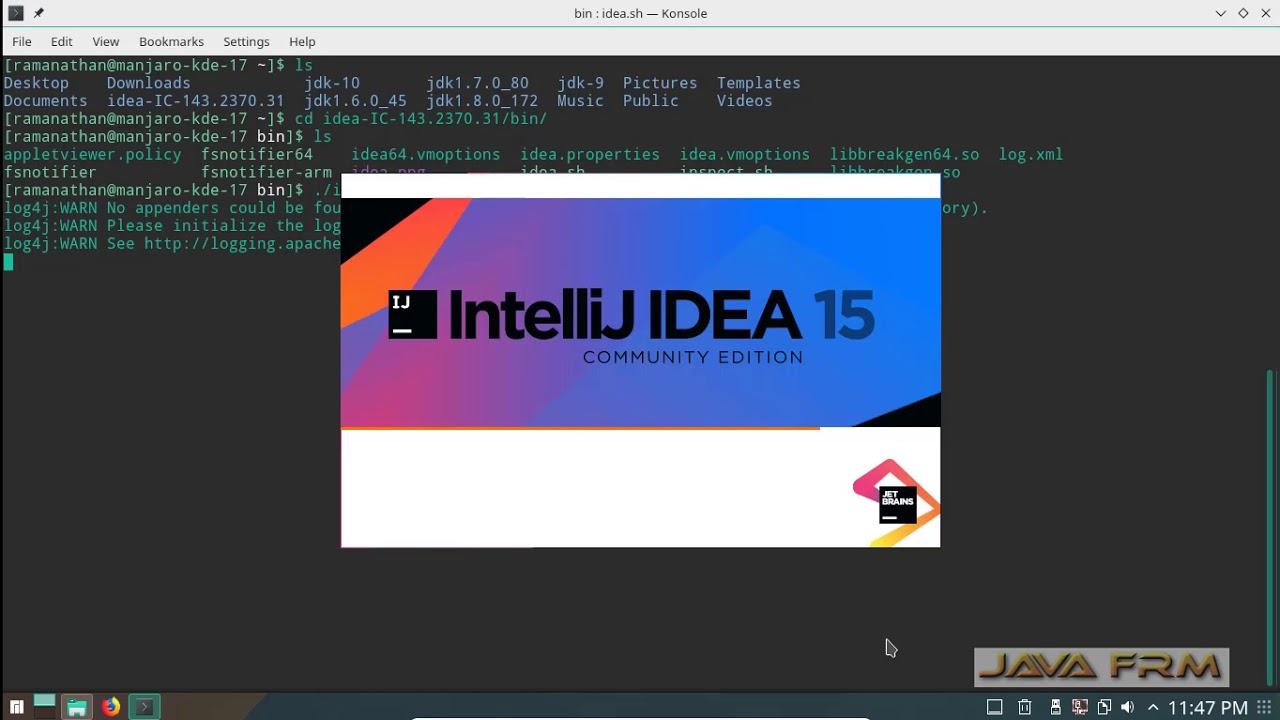IntelliJ IDEA 15 Community Edition installation on Manjaro Linux 17 1 KDE  Plasma Edition