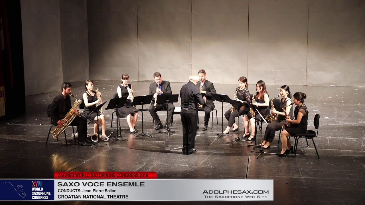 Excertps from Le Tombeau de Couperin   Saxo Voce Ensemble   XVIII World Sax Congress 2018 #adolphesa