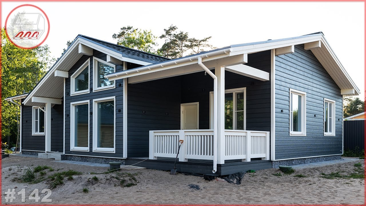 Одноэтажный дом 10*15 с тремя спальнями – каркасный одноэтажник на УШП