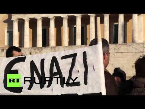 Greece: 'Stop Merkel, start democracy!' Athenians protest austerity