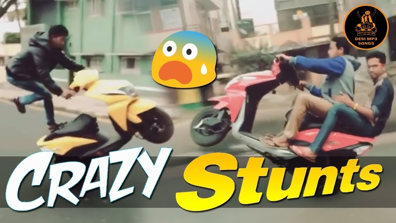 Should Watch... Humorous Loopy Scooty Stunts Fail in India