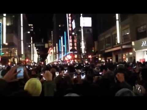 Happy New year 2015 Granville Street Vancouver BC