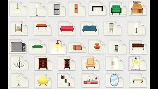 Готовый настроенный пакет анимированной мебели и интерьера для Anime Stuido Pro (Moho Pro)