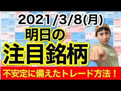 【10分株ニュース】2021年3月8日(月)