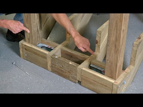 Building Strong Deck Stairs