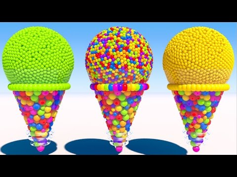 Learning Colors With 3d Cone Ice Cream Youtube
