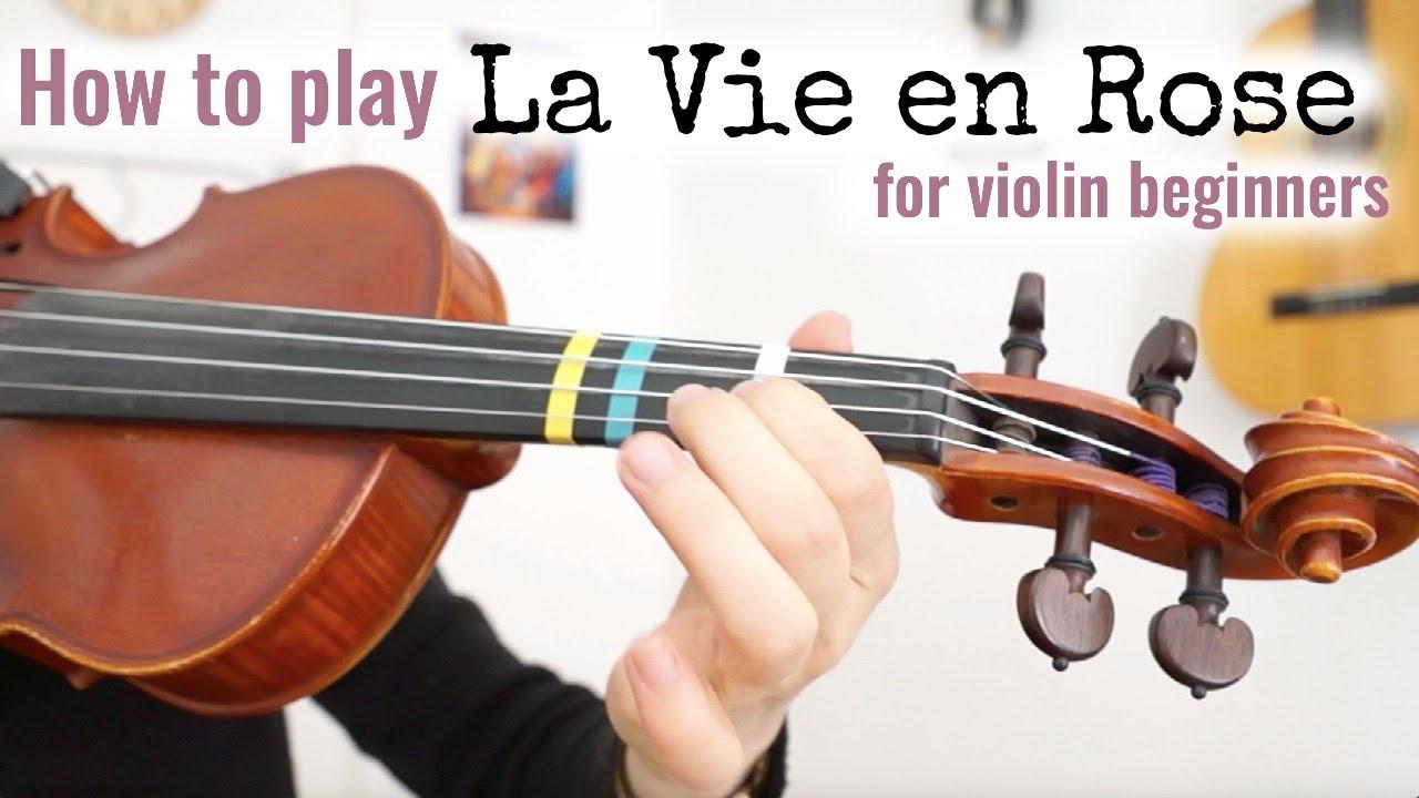 How to play La Vie en Rose | Easy Violin Lesson - Close Up ...