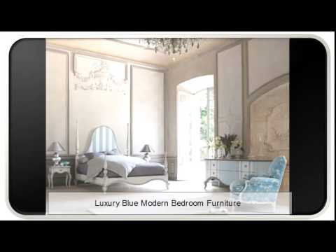 Luxury Blue Modern Bedroom Furniture