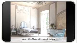 Luxury Blue Modern Bedroom Furniture