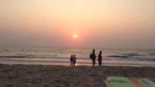 Закат в Гоа - пляж Бенаулим