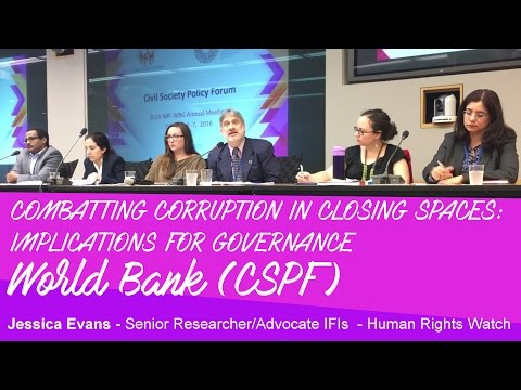 World Bank - Corruption - Civil Society - Jessica Evans - HRW