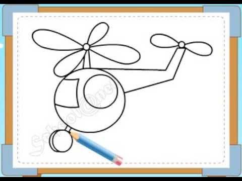 BÉ HỌA SĨ - Thực hành tập vẽ 237: Vẽ máy bay