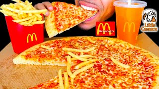 ASMR   LITTLE CAESARS MCDONALD'S FRENCH FRIES BIG BITES EATING MOUTH SOUNDS NO TALKING JERRY