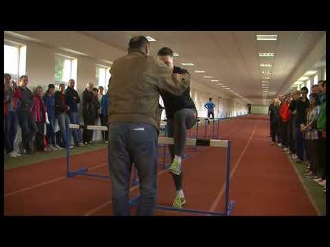 Trénink překážkářů na 110 m Ludvík Svoboda