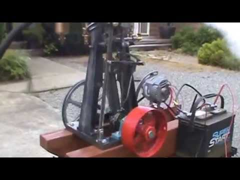 Steam Engine with Alternator DC Electricity Off Grid