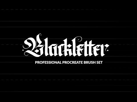 """Professional Blackletter Procreate"" Brushes Demo"