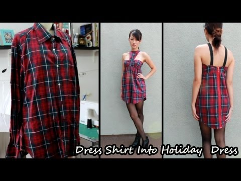 Men's Dress Shirt Into Dress Part 1 - YouTube
